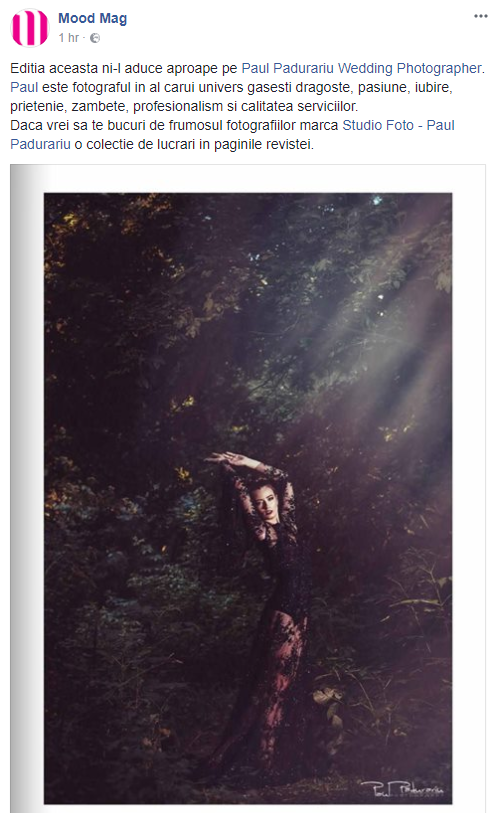 Aparitie mood mag Paul Padurariu - Studio foto - fotograf nunta Iasi