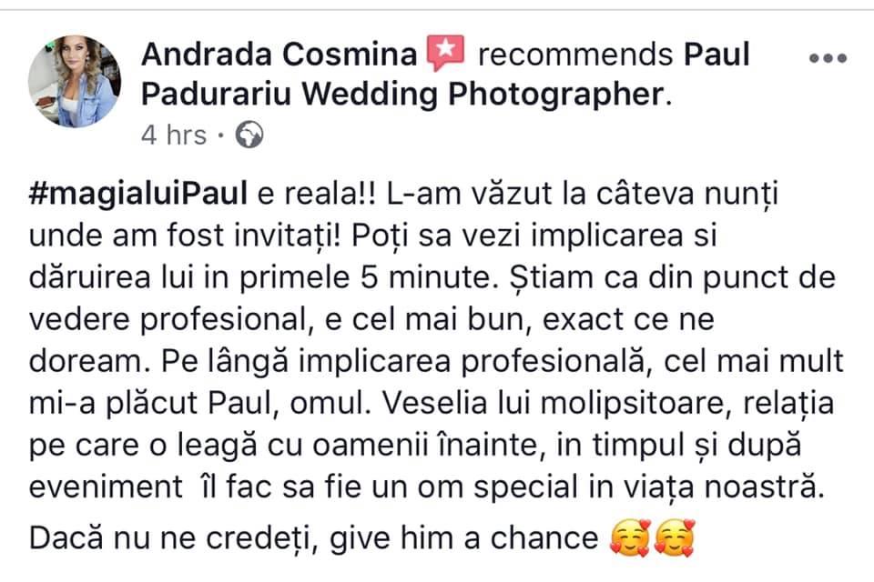 Andrada Nunta Liria Events Iasi review fotograf nunta paul padurariu 2019